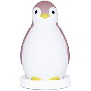 Kids Sleep Trainer Night Light and Bluetooth Speaker - Pam The Penguin (Pink)
