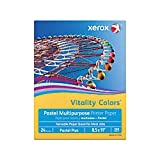 Xerox(R) Vitality Colors(TM) Pastel Plus Multipurpose Printer Paper, Letter Size, 24 Lb, 30% Recycled, Goldenrod, Ream of 500 Sheets