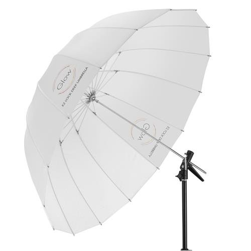 "Glow Easy Lock X-Large Deep Translucent Fiberglass Umbrella (65"")"