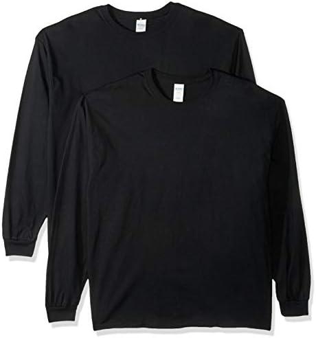 Gildan Men's Heavy Cotton Long Sleeve T Shirt, 2 Pack
