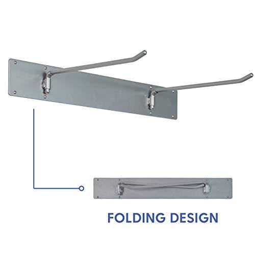 Hanging Rest Mat Metal Mount - Space-Saving Wall Rack for Preschool/Daycare Nap Mats