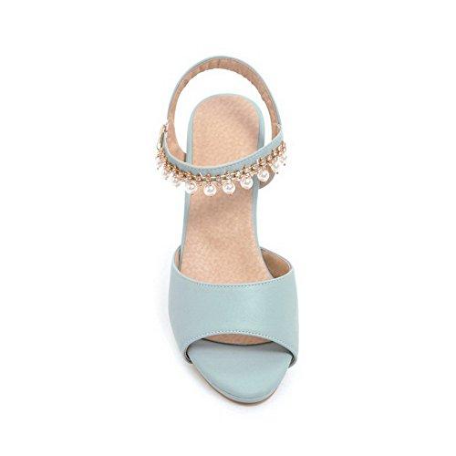 Heels Sandals ASL04814 Urethane Womens BalaMasa Sandals Kitten Blue Huarache waq6Ht