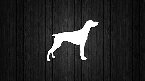 (CELYCASY Decal - German Shorthaired Pointer Dog Silhouette Custom Vinyl Decal Sticker - Dog Lover - DIY Tumbler Decal)