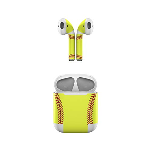 Skin Decals for Apple AirPods - Softball - Sticker Wrap Fits 1st and 2nd Generation