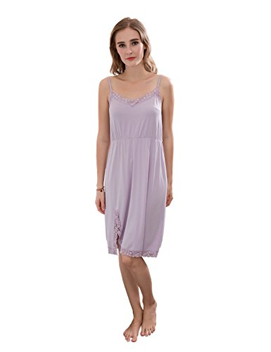 notte da notte QianXiu Bretelle Sling Purple da indumenti notte Comodi regolabili da biancheria Smoke Camicia Donne Dress Pizzo Estate q4tnt1z