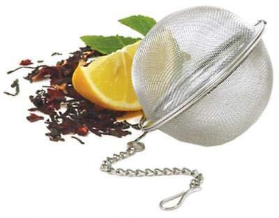 OKSLO 2 stainless steel mesh tea ball boxed with hang tab 2pk
