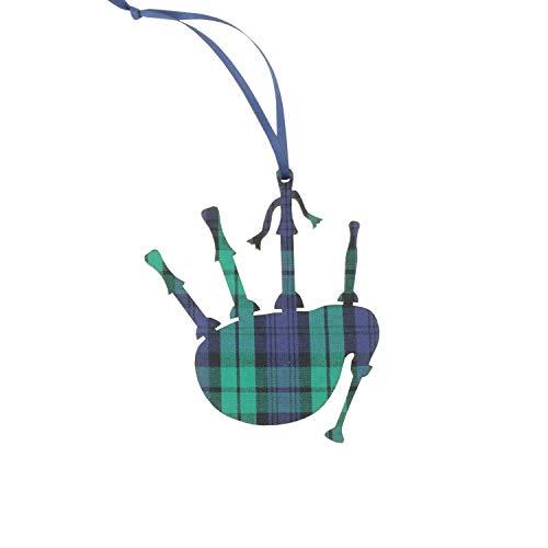 Artcuts Black Watch Plaid Bagpipes Ornament - Authentic Scottish Clan ()