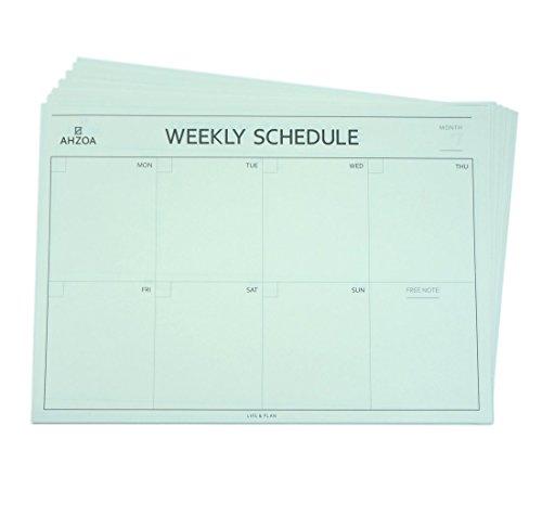AHZOA Weekly Desk Pad Scheduler 12ea, 8.4x11.7