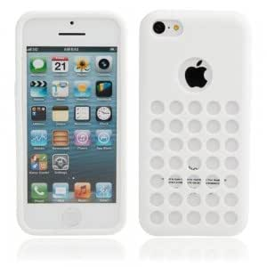Hollow Style Protective TPU Case for iPhone 5C White