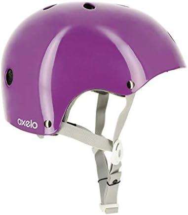 NJ ヘルメット- ローラースケート用保護具ヘルメット子供用スケートスケート用ローラースケート用ローラースケート用ヘルメット調整可能なマルチカラーオプション (Color : Purple, Size : M)