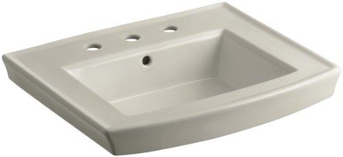 KOHLER K-2358-8-G9 Archer Pedestal Bathroom Sink Basin with 8