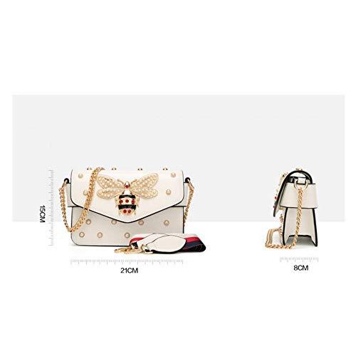 Female Small New Cute Bag Bag Bag red Bag Slung Cartoon Tide Temperament Square Small Decorative Pearl Shoulder XIAOLONGY Bee Single fEFwqTpw