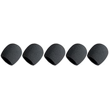 Bluecell Black 5 Pack Microphone Windscreen Foam Cover