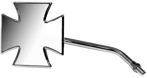 Emgo Maltese Cross Mirror Solid Stem Lft/rht Universal (Maltese Cross Mirror)