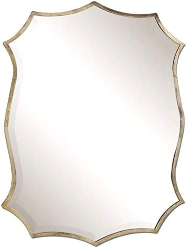 Uttermost Migiana Metal Framed Mirror in Oxidized Nickel Plated Finish