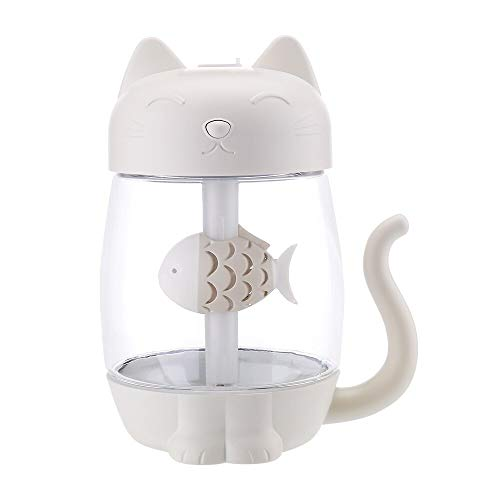 - SMILESSGSP 350ML Humidificador Cartoon Cat USB Air Humidifier Ultrasonic Silent Color LED 3 in 1 Diffuser for Home Office Car