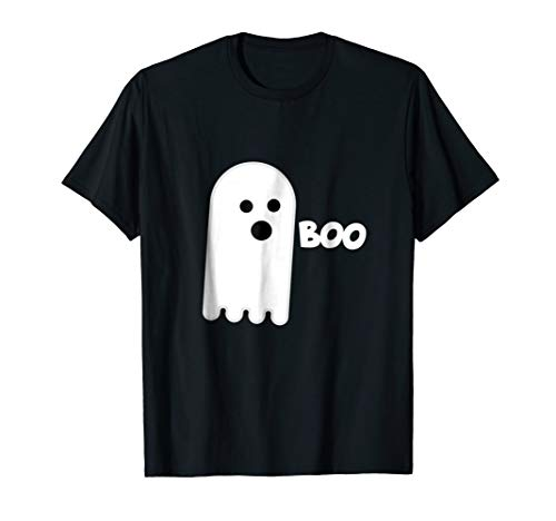 Cute Ghost Boo T-shirt, Halloween white ghost booing tshirt ()