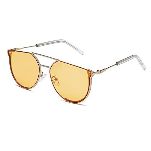KOKMO-TYJ Retro Polarized Sunglasses for Classic Trendy Stylish Sunglasses for Men Women 719% UV Protection,Silver Frame Ocean Orange - Glasses 719
