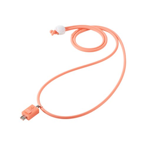 Simplism Micro USB Neck Strap (Flamingo)