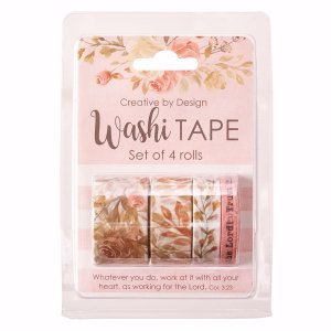 Washi Tape-Rejoice In The Lord (Set Of 4 Rolls)