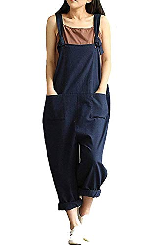 Ideas For Matching Halloween Costumes - Lncropo Women's Baggy Overalls Jumpsuits Casual
