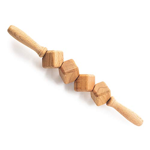 Tuuli Accessories Anti Cellulite Massage Roller Dice Roller Tool Massager Maderotherapy Wooden 15.7 inches