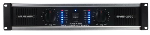 (2 Channel 2000 Watts Professional DJ PA Power Amplifier 2U Rack mount SYS-2000 MUSYSIC)