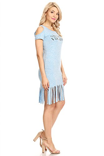 Jeans Buzz 3803 Femmes Juniors Plage Robe Soleil T-shirt Extensible Doux Occasionnels Couvrent Bleu
