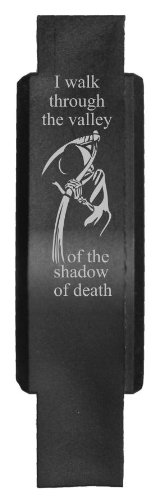 Tactical Trigger Guard (Screw Assembled) Laser Engraved Black Polymer Grim Reaper PSALM 23:4 v2 ()
