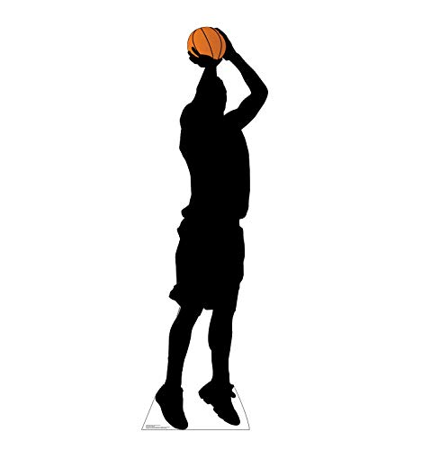 Advanced Graphics Baskeball Player Shooting Silhouette Life Size Cardboard Cutout Standup -
