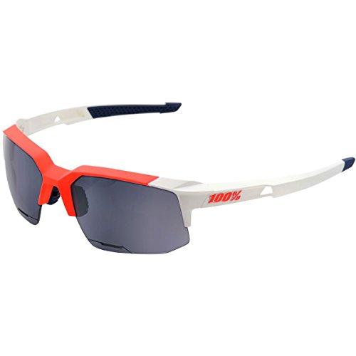 100% Speedcoupe Sunglasses Soft Tact Gamma Ray (With) Smoke Lens, One Size - (166 Sunglasses)