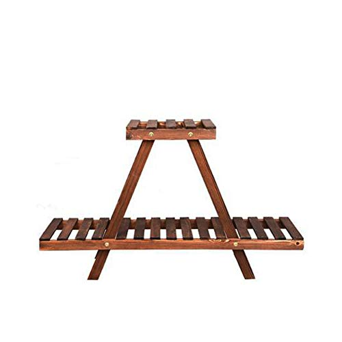 Frjjthchy Wooden Succulent Plant Stand 3-Tier Display Shelf Rack for Desktop for Small Potted Plants (Brown) ()