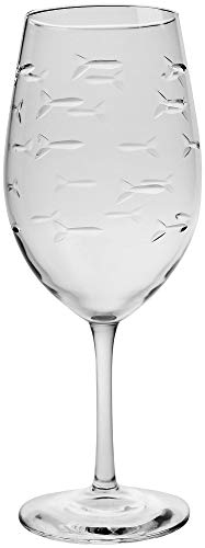 Rolf Glass 18 oz. School of Fish Wine Glass One Size ()