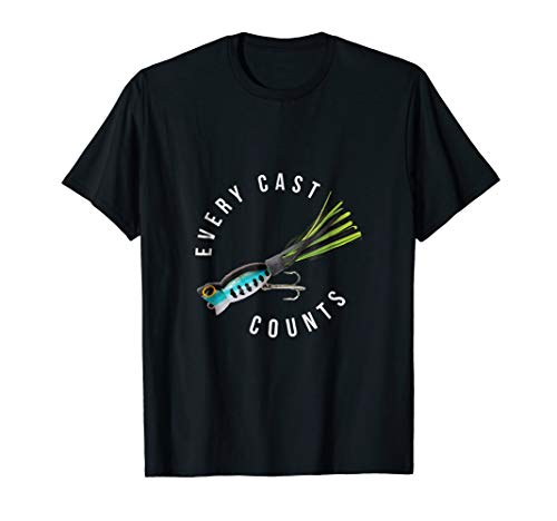 NEW Fishing Shirt: Every Cast Counts + Hula Popper Bass Lure