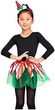 Disfraz Elfa Duende Navidad para Niña Conjunto Tutú y Diadema ...