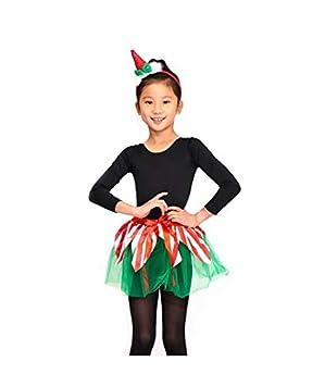Disfraz Elfa Duende Navidad para Niña Conjunto Tutú y ...