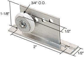 Door Package Assembly Roller Shower (CRL 3/4 Oval Edge Nylon B.B. Sliding Shower Door Roller Assembly - Package by C.R. Laurence)
