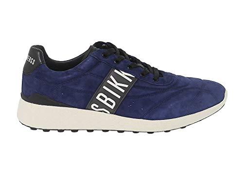 Bikkembergs Men's Bke108703 Blue Leather Sneakers (Men Bikkembergs Shoes)