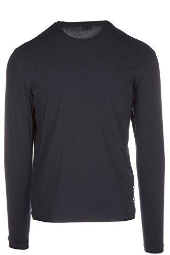 Emporio Armani EA7 Herren T-Shirt Langarm Langarmshirt V Ausschnitt blu