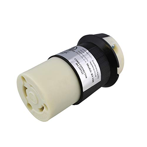 Dumble | L5-30R Connector - 30 Amp Twist Lock Inlet, Locking Power Cord Connector, Locking Power Inlet Plug, 30A 125V