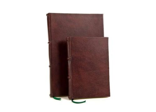 Handmade Italian Leather Bound Journal - Notebook. 9x12in with Lined Pages | Epica by Epica