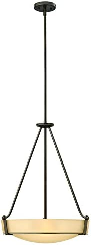 Hinkley 3222OB Transitional Four Light Stem Hung Foyer from Hathaway collection in Bronze Darkfinish,