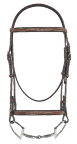 Rodrigo Pessoa Fancy raised Padded Bridle w/ Raised Fancy Stitch Lace Reins English Riding Supply 466953MBRN HRSE