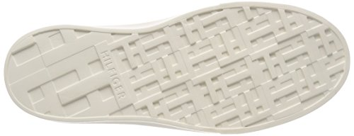 Tommy Mujer para White Lace Up Hilfiger Light Weight Blanco Zapatillas 100 Knitted rw4nrg6xC