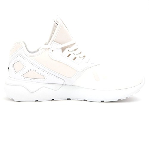 adidas Mens Tubular Runner Originals Running Shoe White/White/Black