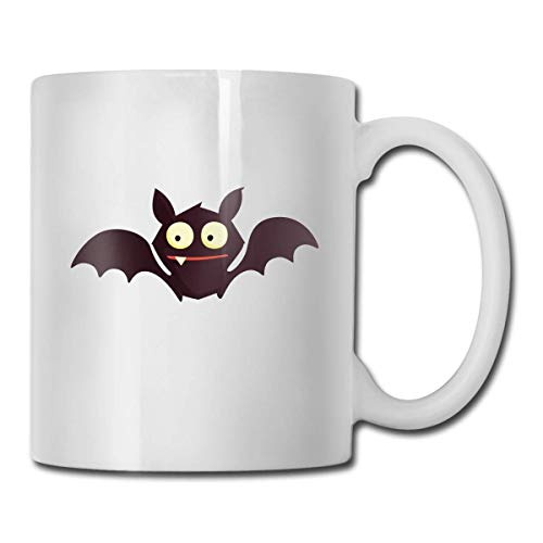 WXSM Cute Cartoon Halloween Bat Custom Coffee Mugs / 11oz Ceramic Tea Cup - Novelty Gift