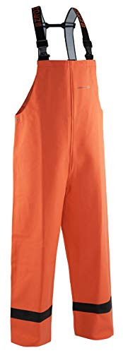 (Grundéns Women's Sedna Fishing Bib Trousers, Orange - Large)