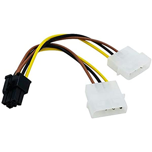 Xertas Dual Molex 4 Pin To 6 Pin Pci Express Pci E Power Adapter Cable For Video Card Lp4 Y Cable Amazon Ca Electronics
