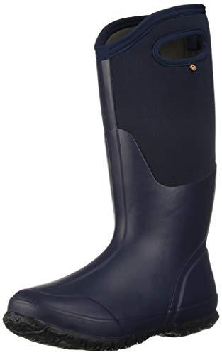 - Bogs Women's Classic Solid Snow Boot, Tall Matte Navy, 8 Medium US