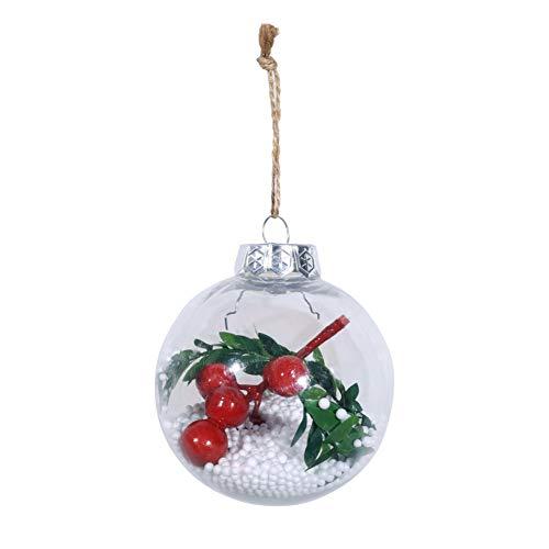 Alinementpai - Adorno para árbol de Navidad con Bolas de Bayas Falsas Transparentes para Colgar en la Ventana del hogar, 3#,...